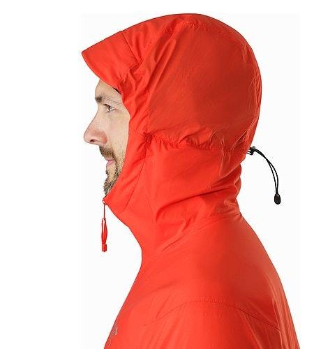 Procline Hybrid Hoody Cardinal Kapuze Seitenansicht