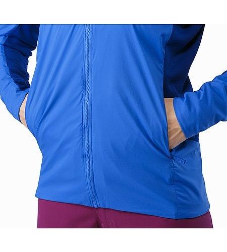 Procline Hybrid Hoody Women's Island Blue Hand Pocket