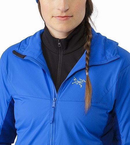 Procline Hybrid Hoody Women's Island Blue Open Collar