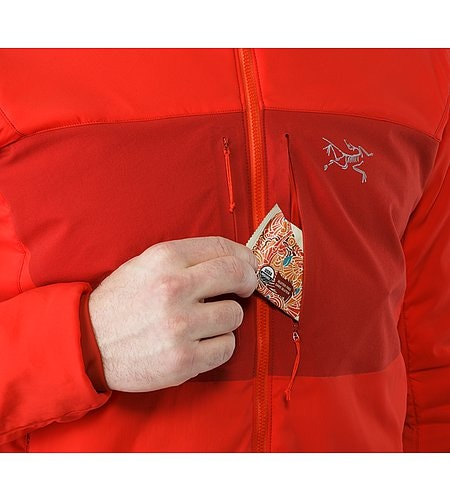 Proton AR Hoody Cardinal Chest Pocket