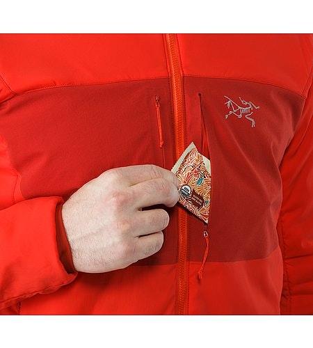 Proton AR Veste à capuche Cardinal Poche poitrine