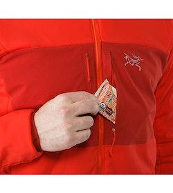 Proton AR Hoody Cardinal Chest Pocket