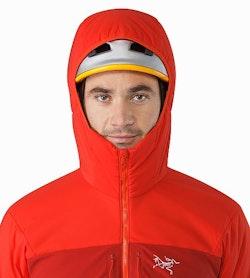 Proton AR Hoody Cardinal Helmet Compatible Hood Front View
