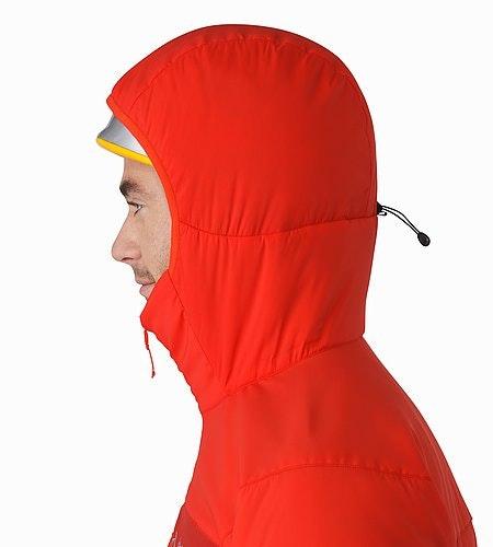 Proton AR Veste à capuche Cardinal Capuche compatible avec un casque Vue de profil