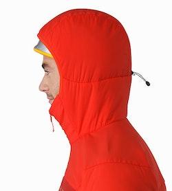 Proton AR Hoody Cardinal Helmet Compatible Hood Side View