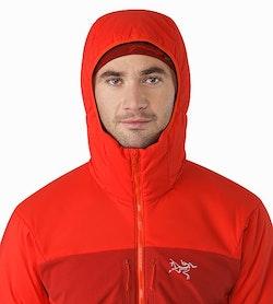 Proton AR Hoody Cardinal Hood Front View