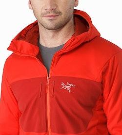 Proton AR Hoody Cardinal Open Collar