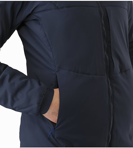 Proton AR Hoody Women's Black Sapphire Hand Pocket