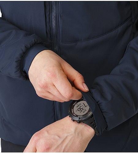 Proton AR Hoody Women's Black Sapphire Stretch Cuffs