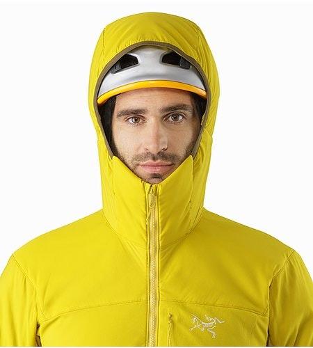 Proton LT Hoody Woad Helmet Compatible Hood Front View