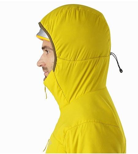 Proton LT Hoody Woad Helmet Compatible Hood Side View