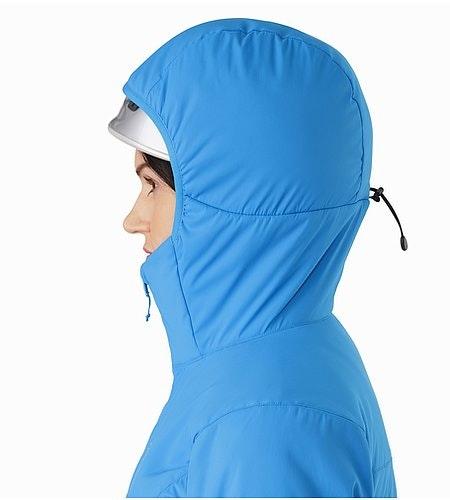 Proton LT Hoody Damen Baja Helmtaugliche Kapuze Seitenansicht