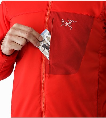 Proton LT Jacket Cardinal Chest Pocket