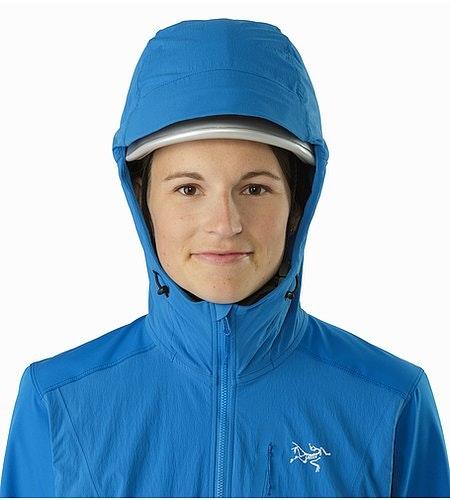 Manteau à capuchon Psiphon FL Femme Macaw Capuchon compatible avec un casque Vue de face