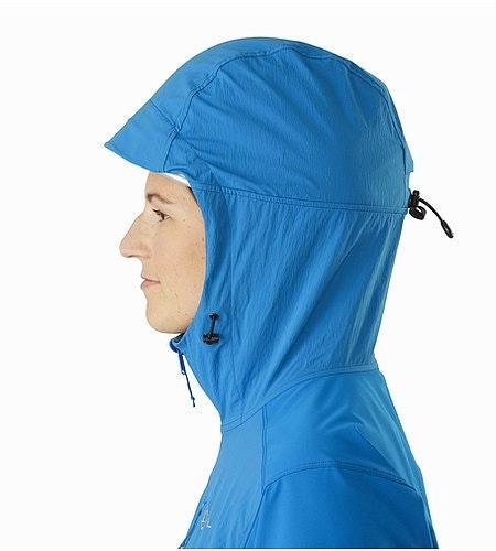 Manteau à capuchon Psiphon FL Femme Macaw Capuchon compatible avec un casque Vue de profil