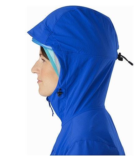 Psiphon FL Hoody Women's Somerset Blue Helmet Compatible Hood Side View