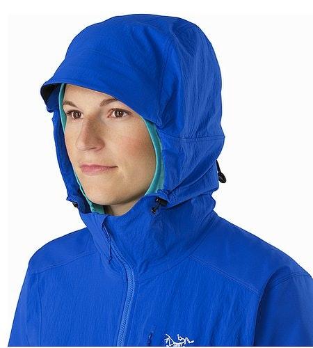 Psiphon FL Hoody Women's Somerset Blue Hood Side View