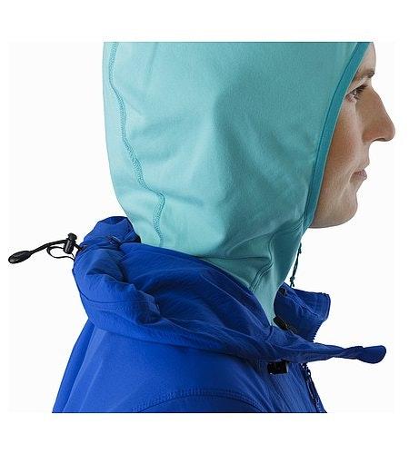 Psiphon FL Hoody Women's Somerset Blue Hood Stowed