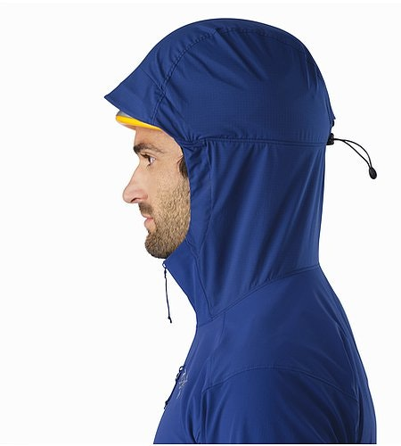 Psiphon SL Pullover Corvo Blue Helmet Compatible Hood Side View