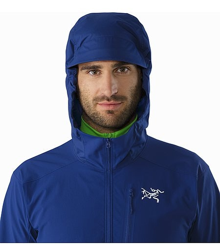 Psiphon SL Pullover Corvo Blue Hood Front View