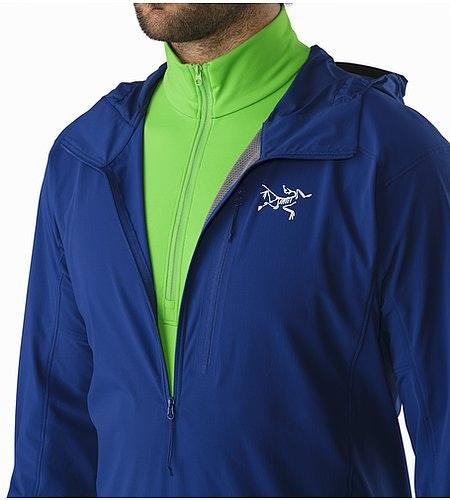 Psiphon SL Pullover Corvo Blue Open Collar