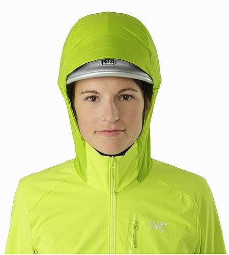 Psiphon SL Pullover Women's Titanite Helmet Compatible Hood Front View