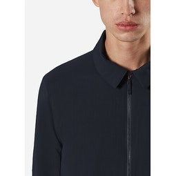 Quoin IS Jacket Deep Navy Collar
