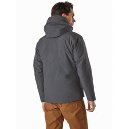 Radsten Insulated Jacket Black Heather Back View