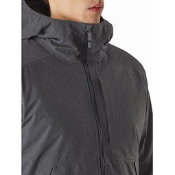 Radsten Insulated Jacket Black Heather Chest Pocket