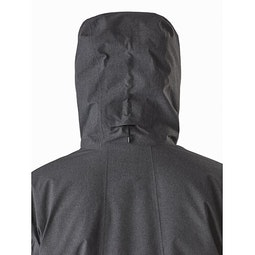 Radsten Insulated Jacket Black Heather Hood