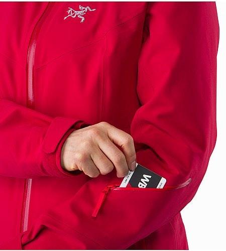 Ravenna Jacket Women's Radicchio Sleeve Pocket