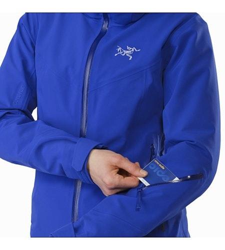 Ravenna Jacket Damen Zaffre Ärmeltasche