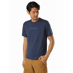 Remige Word Shirt SS Cobalt Moon Front View