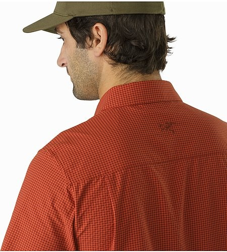 Revvy Shirt SS Rooibos Rear Collar Detail
