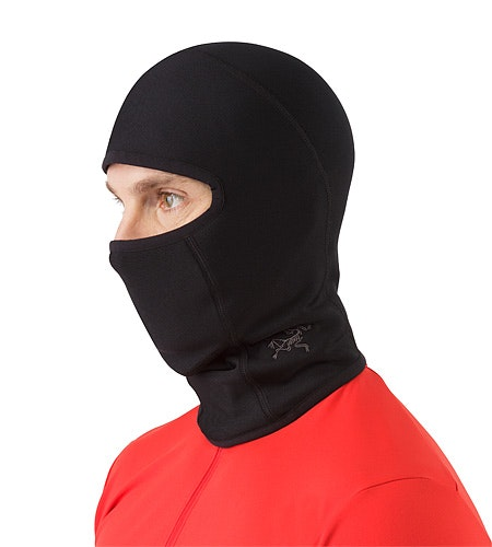 Rho AR Balaclava Black Front View