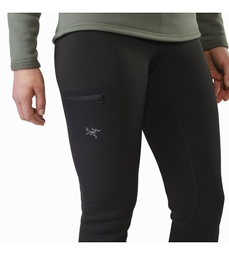 Rho AR Bottom Women's Black Thigh Pocket
