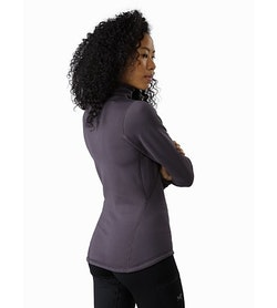 Rho AR Zip Neck Women's Whiskey Jack Back View