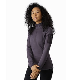 Rho AR Zip Neck Women's Whiskey Jack Front View