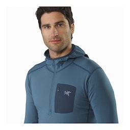 Rho LT Hooded Zip Neck Light Hecate Collar