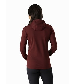 Rho LT Hooded Zip Neck Women's Flux Back View