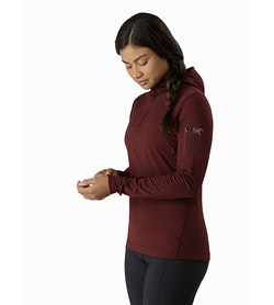 Rho LT Hooded Zip Neck Women's Flux Front View