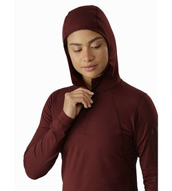 Rho LT Hooded Zip Neck Women's Flux Hood
