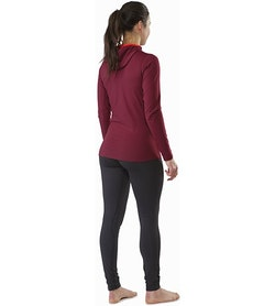 Rho LT Hooded Zip Neck Women's Merbau Back View