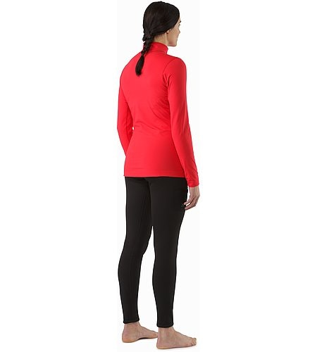 Rho LT Zip Neck LS Women's Rad Back View 2