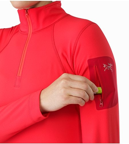 Rho LT Zip Neck LS Women's Rad Sleeve Pocket 2