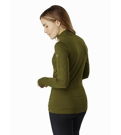 Rho LT Zip Neck Women's Bushwhack Back View