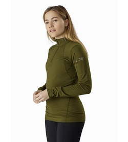 Rho LT Zip Neck Women's Bushwhack Front View