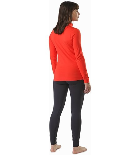 Rho LT Zip Neck Damen Hard Coral Rückansicht