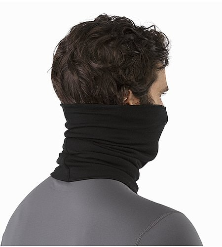 Rho LTW Neck Gaiter Black Back View