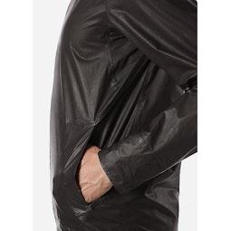 Rhomb Jacket Black Hand Pocket View